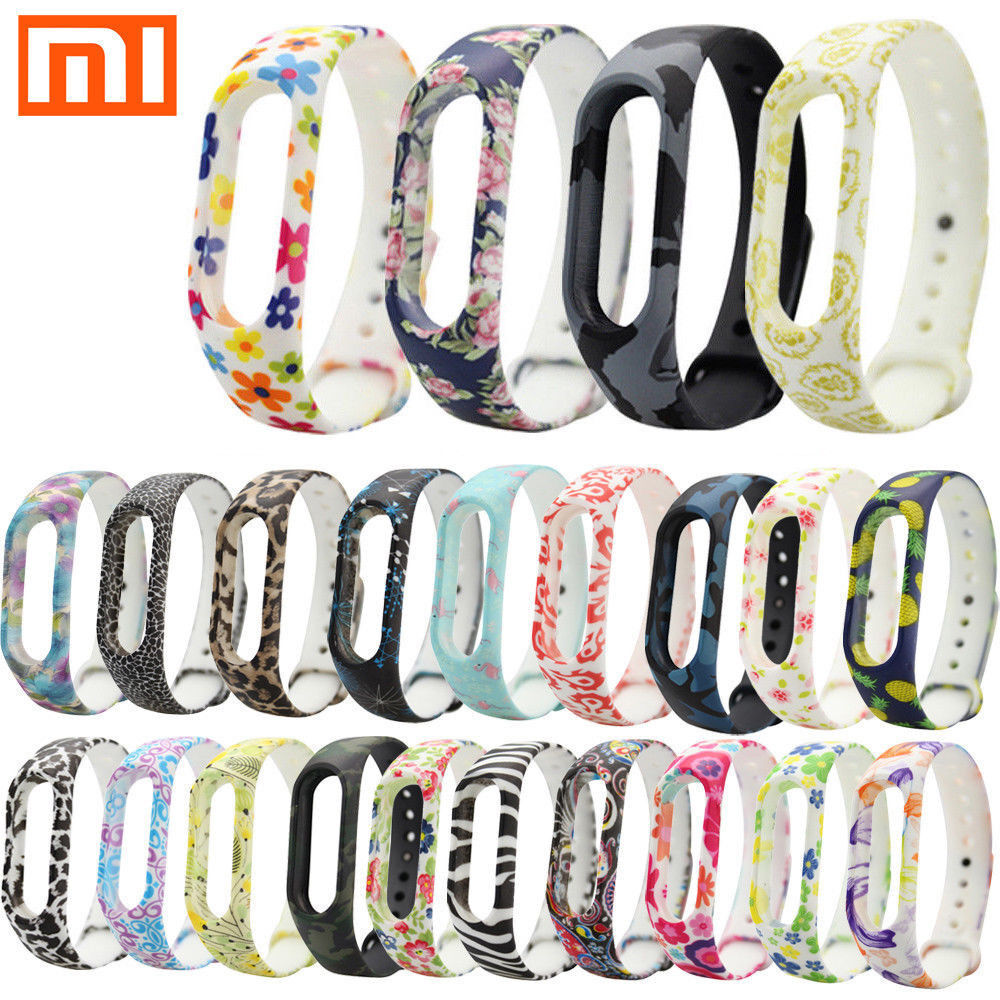For Xiaomi Mi Band 2 Adjustable Bangle Soft Silicone Strap Wristband Bracelet