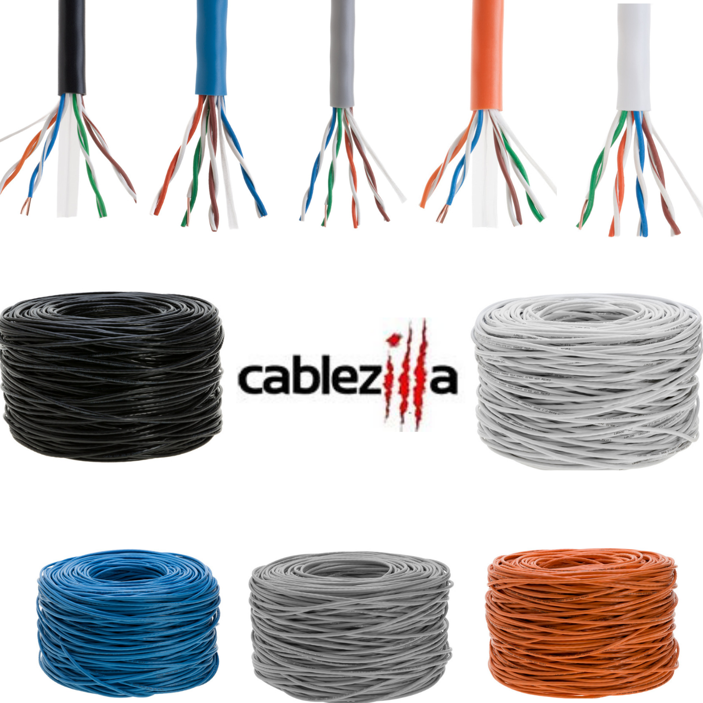 Sonovin Snagless//Molded Boot Cat5e Gray Ethernet Crossover Cable Pack of 5 7 Foot Color:Gray
