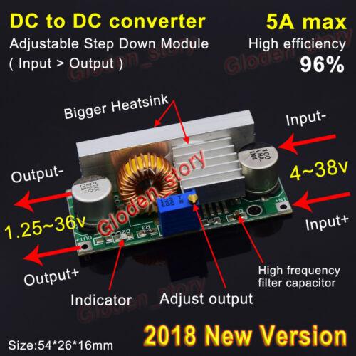 5A DC-DC Step down Power Module Buck Volt Converter 5V-36V to 3.3V 6V 9V 12V 24V