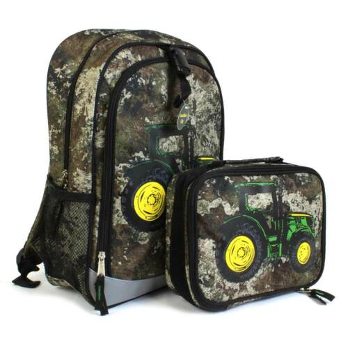 John Deere TrueTimber Strata Camo Tractor Kid/'s Child/'s Backpack Lunchbox NWT