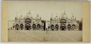Venezia-St-Marc-Italia-Foto-Naya-Stereo-PL55L1n-Vintage-Albumina-c1860