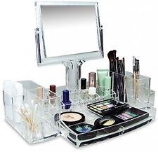 Deluxe Makeup Organizer Vanity Cosmetic Storage Luxury Beauty Display Case NEW
