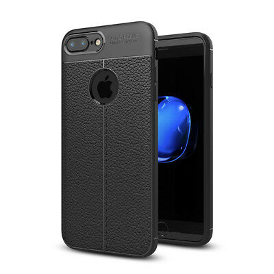 For Apple iPhone 8 Plus 7 Slim Soft TPU Leather Case Shockproof Ultra Thin Cover