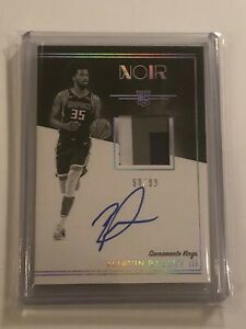 2018-19-Panini-Noir-Marvin-Bagley-III-3-Color-Rookie-Patch-Auto-RPA-99-Kings