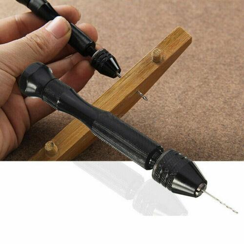10 Twist Drills Rotary Tools Aluminum Mini Micro Hand Drill With Keyless Chuck