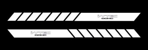 ivtec dohc side body stripes decal racing jdm vinyl car doors bumper set of 2