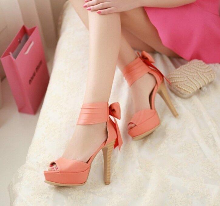 Eleganti Seali donna arancioni tacco alto 12,5 cm e plateau cod 8044