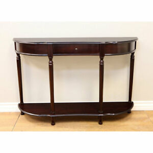 Surprising Details About Walnut Cherry Console Sofa Table Living Room Display Shelf Storage Drawer Decor Bralicious Painted Fabric Chair Ideas Braliciousco