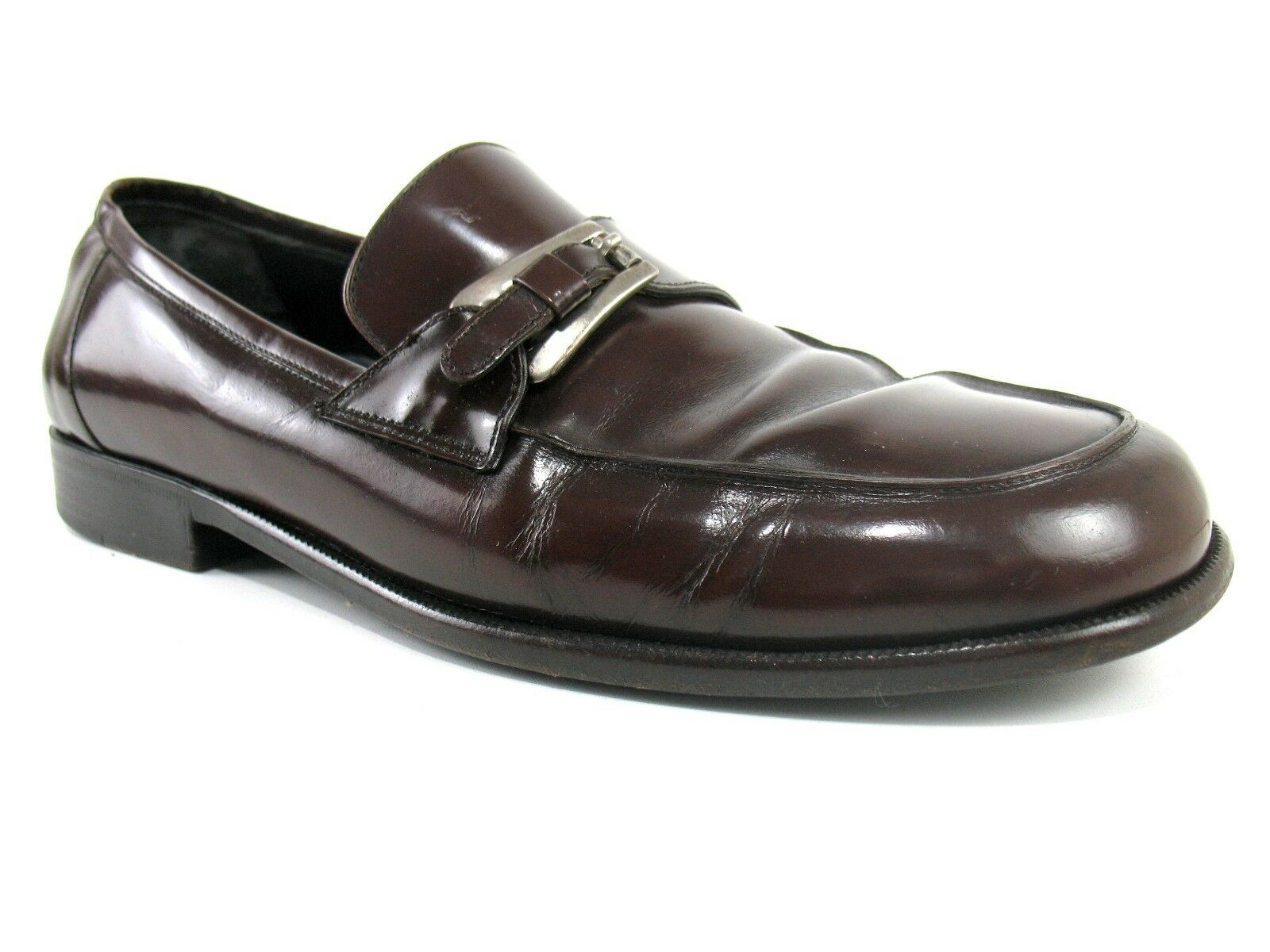 Bragano By Cole Haan - Brown Pelle Monk Strap Loafer Dress Shoes - Size 10 D