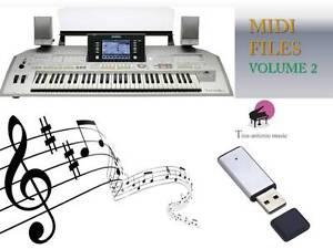 MIDI File Karaoke USB stick for Tyros 2 NEW Volume 2
