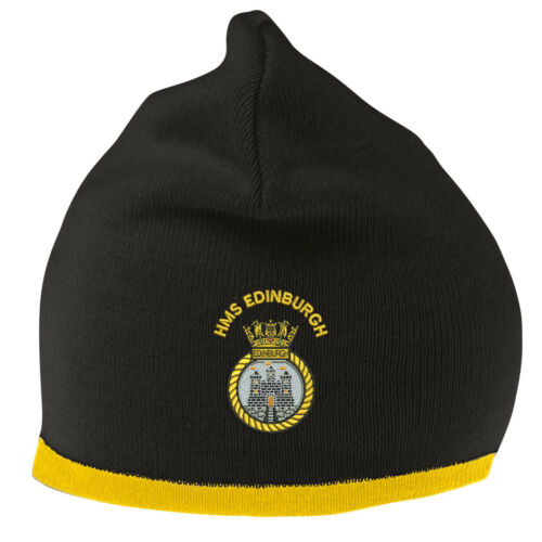 HMS Edinburgh Beanie Hat with Embroidered Logo