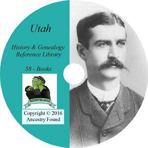 58-vecchi-libri-di-storia-e-Genealogia-di-UTAH-famiglie-discendenza-Salt-Lake-UT-CD-DVD