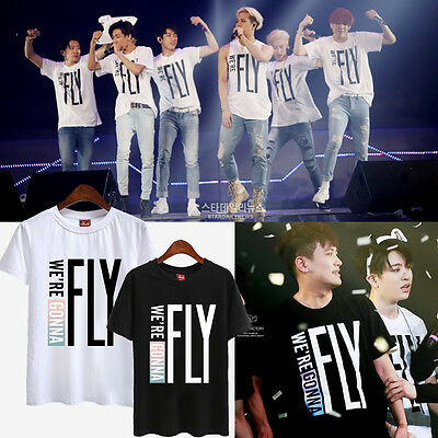 GOT7 KPOP TSHIRT T-SHIRT TEE FLY FLIGHT LOG JACKSON MARK JB JR YOUNGJAE BAMBAM