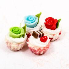 5PCS Mix Rose Cream Cupcake Cake Sweet 9mm 1:12 Scale Miniature Dollhouse A1755