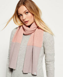 new product d063d 2916d Details zu Neue Damen Superdry Colour Block Schal Dusty Pink