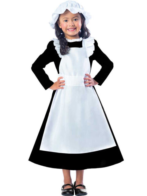 Halloween Costumes For Girls Age 11 12.Child Victorian Maid Poor Girls Book Day Week New Fancy Dress Costume Kids 5 12