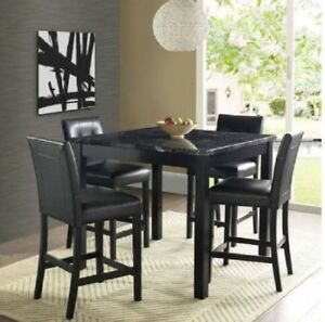 Counter Height Dining Set In Black