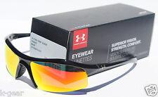 UNDER ARMOUR Zone Sunglasses Shiny Black/Orange NEW Sport/Cycle $100