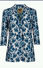 Womens Ted Baker Oram Paisley Printed Blue Blazer size 6 Ted 2