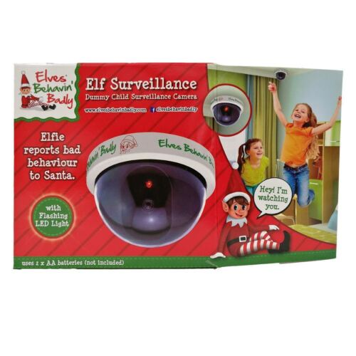 Genuine  Flashing LED Fake Dummy Dome CCTV Camera Santa ELF Cam