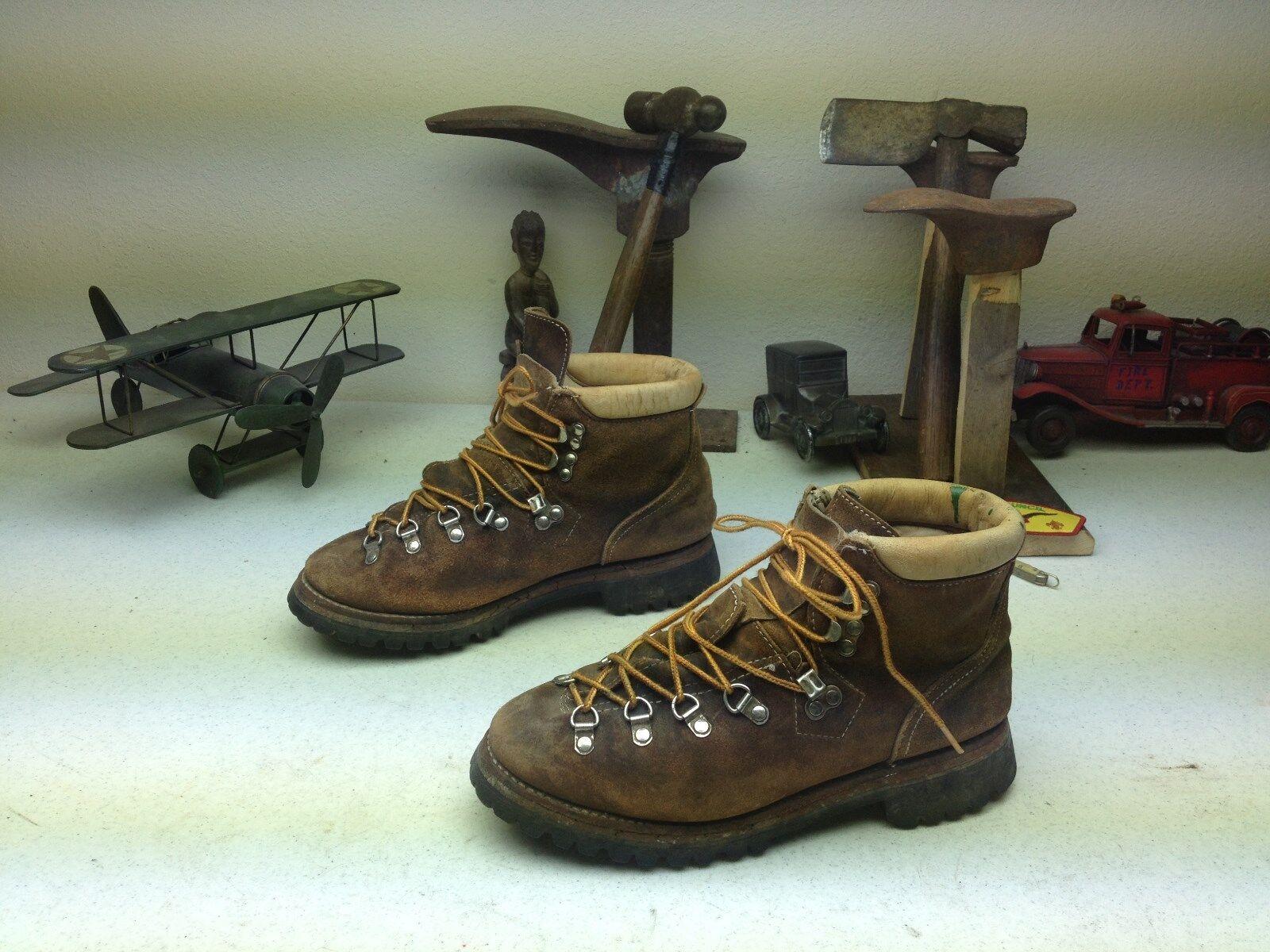 Angustiado marrón lazada Montañismo Caminata Trail botas 7.5 M