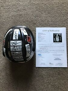 1988 NHL All Stars Autograph Signed Full Size Helmet 11 HOF Lemieux Roy Howe JSA