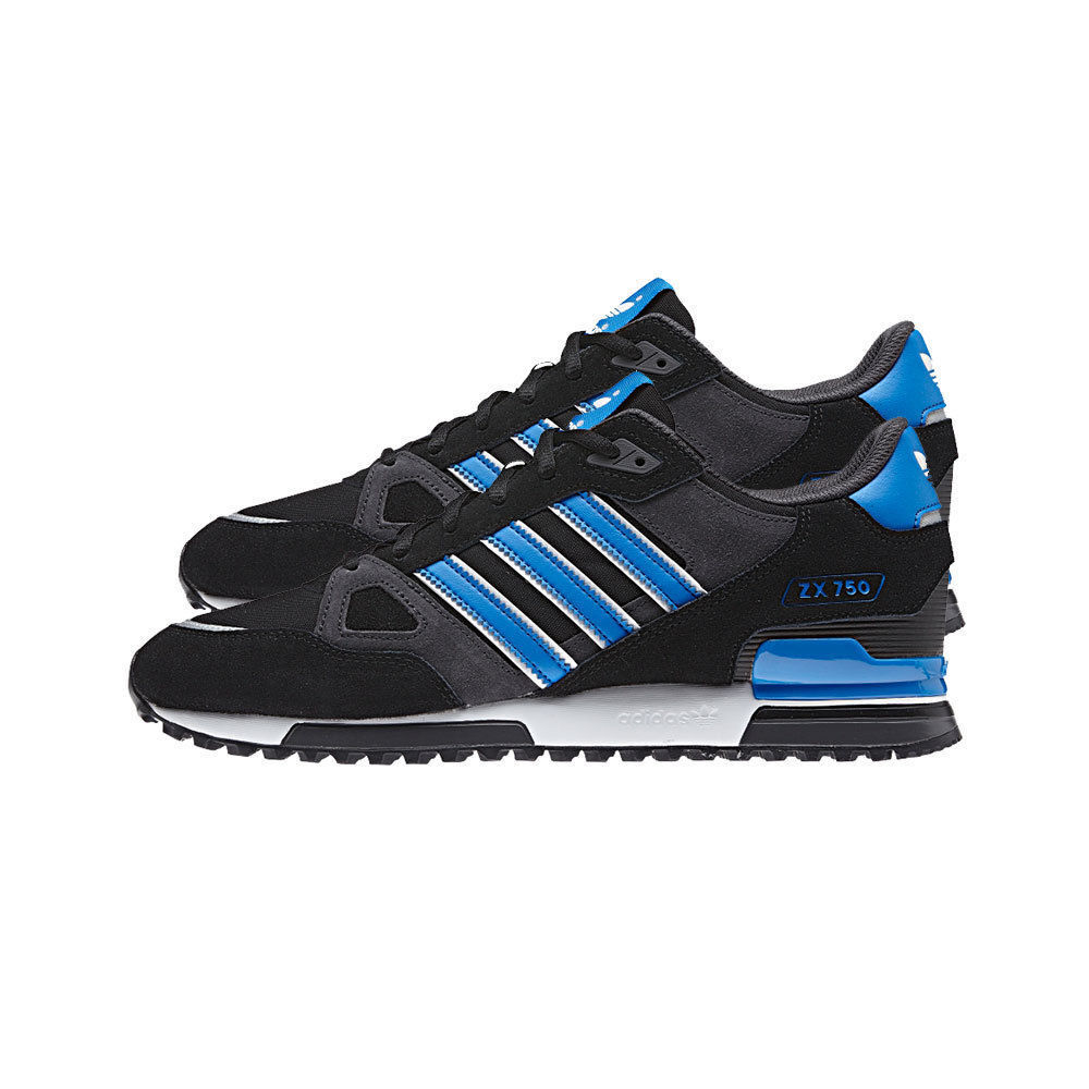 Adidas Originals Mens ZX750 Trainers, Adidas Sports Trainers - Black - Size 7-12