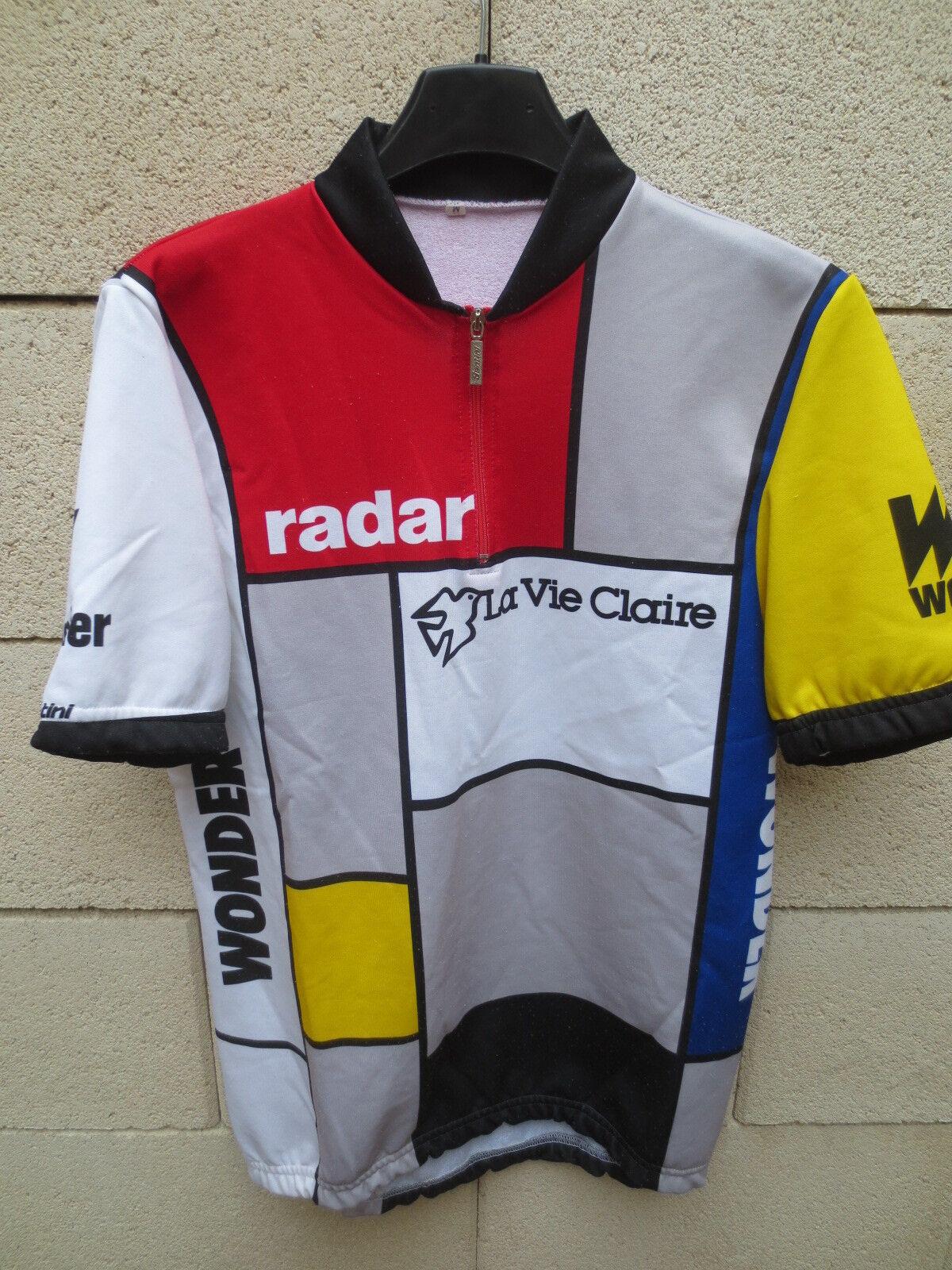 VINTAGE Maillot  cycliste LA VIE CLAIRE Tour France 1985 cycling shirt M Hinault  mejor moda