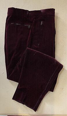 Nwt 1595 Giorgio Armani Mens Dress Pants Burgundy 32 Us 48 Eu Italy Ebay