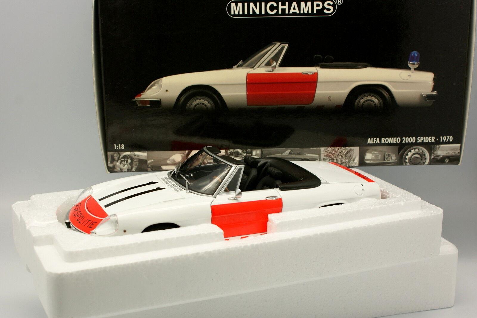Minichamps 1 18 - Alfa Romeo 2000 Spider Rijskpolitie Police NL