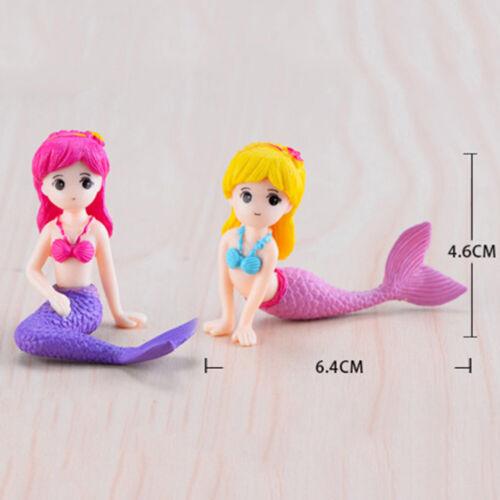 Mermaid DIY Mini Miniature Figurine Garden Dollhouse Decor Micro Landscape TDCA