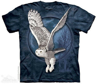 Snow Owl Moon The Mountain Adult Size T-Shirt
