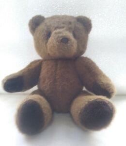 Teddy-Bear-Brown-Fully-Jointed-No-Tag-13-034-Vintage-or-Handmade-Stuffed-Animal