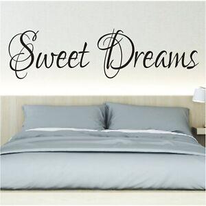 Details Zu Spruch Wandtattoo Sweet Dreams Schlafzimmer Sticker Wandsticker Aufkleber 3