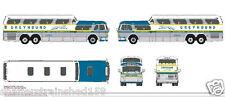 Mini Metals # 33109 1954 GMC PD4501 Scenicruiser Bus Greyhound New York HO MIB