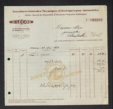 "SAINT-BRIEUC (22) FOURNITURES AUTOMOBILES / MAGNETO DYNAMO Dinin ""E. LECOQ"" 1934"