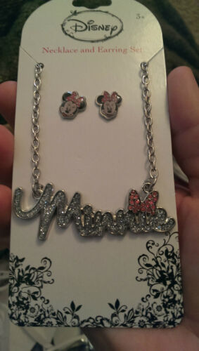 NEW ADORABLE MINNIE MOUSE NECKLACE & EARRING SET/LICENSED DISNEY PRODUCT $19.99