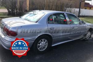 2000-2005-Buick-Le-Sabre-LeSabre-6Pc-Chrome-Pillar-Post-Trim-Stainless-Steel
