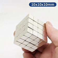 1 200pcs Neodymium N35 Block Square Cube Magnets Strong 10x10x10 Mm Rare Earth