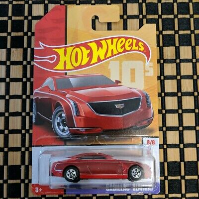 Hot Wheels Cadillac Elmiraj Throwback Decades Exclusive #8//8 Red Die-Cast New