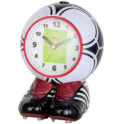 Atlanta 1199 Wecker für Kinder Kinderwecker Fußball Fußballwecker leise