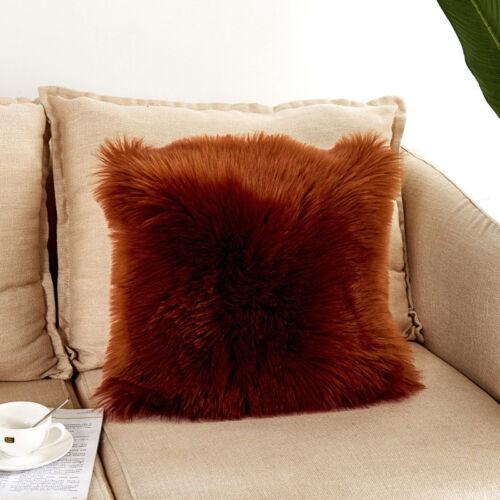 45x45cm Luxus Weichen Kunstfell Fleece Kissen Kissenbezug Kissenbezug 17 Farben