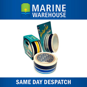 Boat-Decal-Tape-Speed-Stripe-BLUE-SILVER-BLUE-10M-x-40-mm-1800