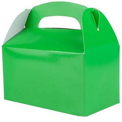 24 GREEN COLOR TREAT BOXES Birthday Party .... FREE SHIPPING