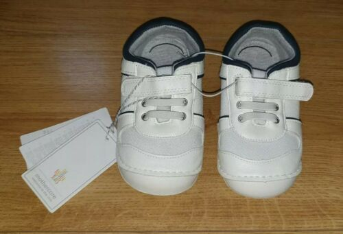 Mothercare Boys White Soft Trainers Shoes infant size 5 With Removable Insole