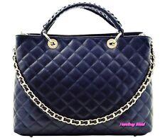 fa76277deace Handbag Bliss Italian Leather Large Quilted Designer Inspired Classic  Handbag