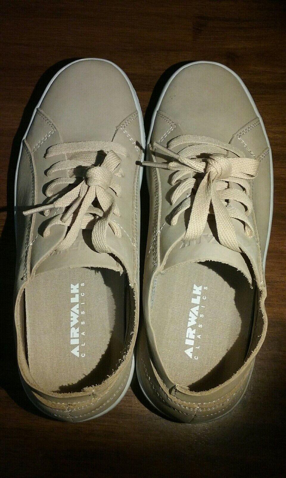 NIB Uomo Dimensione Dimensione Dimensione 9 AIRWALK Second Skin Natural Skate scarpe Leather bd7059