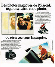 PUBLICITE ADVERTISING 054  1973   POLAROID  appareil photo  COLORPACK 88