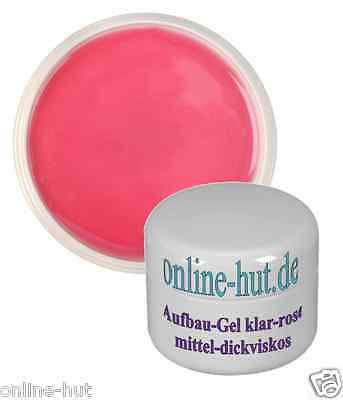5ml UV Aufbau Gel / Builder Gel , Nail, dickviskos, klar-rose`, Dick