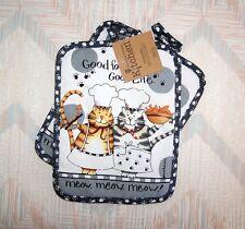 Cat Potholder Set Kay Dee Happy Cat Pattern